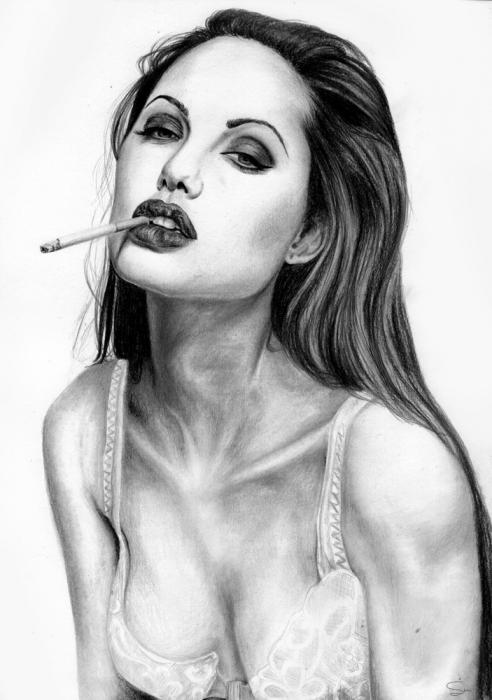Angelina Jolie by Hillcza